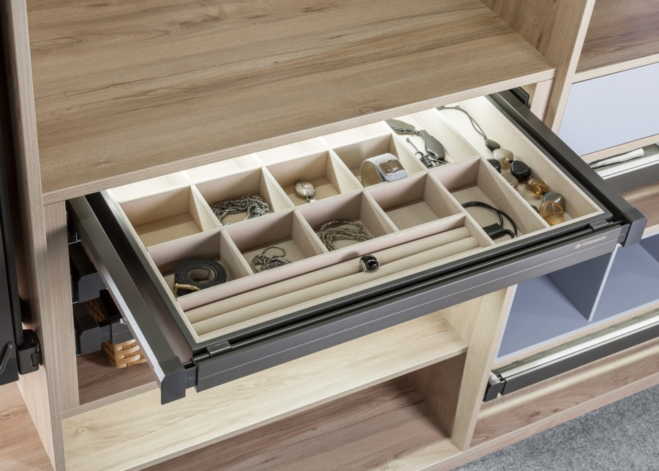 Multifunctional storage box 800x500x70 mm Mocca